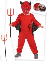Set costume diavoletto rosso bambino