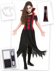 Set costume e accessori Vampiro bambina