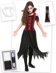 Set costume e accessori Vampiro bambina
