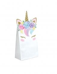 8 Buste regalo di carta unicorno fatato