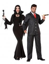 Costume di coppia famiglia gotica adulti