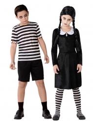 Costume di coppia bambini famiglia gotica