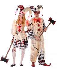 Costume di Coppia giullari sanguinari adolescente