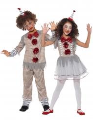 Costume di coppia clown vintage per bambini