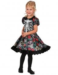 Costume Dia de los Muertos multicolore bambina