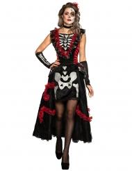 Costume Dia de los Muertos con sottogonna scheletro donna