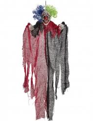 Decorazione da sospendere clown spaventoso rosso e nero