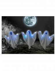 3 Fantasmi luminosi su picchetti 52 cm
