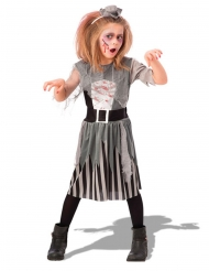 Travestimento da zombie pirata grigio bambina