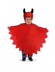 Mantello e copricapo diavoletto per bambino
