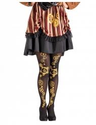 Calze nere steampunk per donna