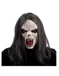 Maschera in lattice da vampiro con capelli adulto