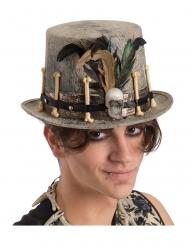Cappello a cilindro con piume vudu
