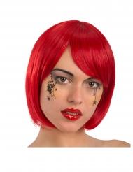 Tatuaggio temporaneo da viso piccoli ragni adulto