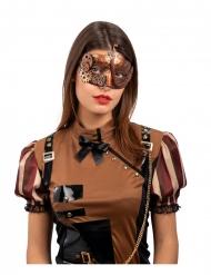 Maschera steampunk bronzo adulto