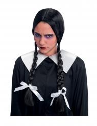 Parrucca trecce nere bambina maledetta da adulto