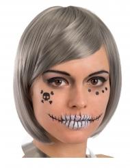 Decorazioni adesive viso scheletro adulto