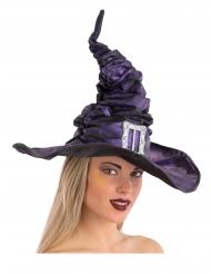 Cappello da strega in tessuto plissettato con fibbia