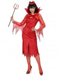 Costume diavolo rosso per donna