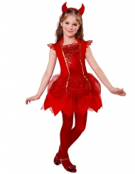 Costume da diavoletta rossa per bambina
