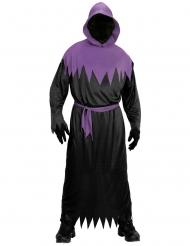 Costume da morte nero e viola adulto