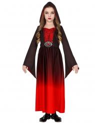Costume guru vampiro rosso bambina