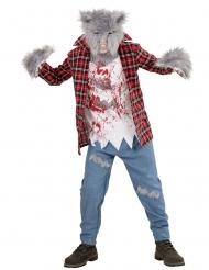 Costume da lupo mannaro con pelo bambino