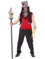 Costume da prete vudu rosso per uomo