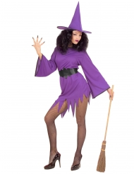 Costume da strega sexy viola donna