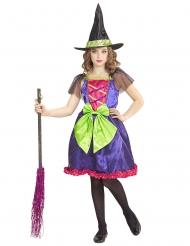 Costume da strega multicolore per bambina