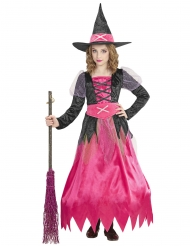 Costume da strega rosa bambina