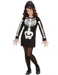 Costume da scheletro glamour per bambina