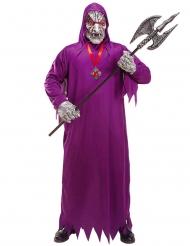 Costume zombie della morte viola adulto
