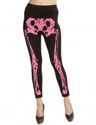 Legging scheletro rosa per donna