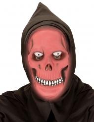 Maschera fosforescente rossa da teschio adulto