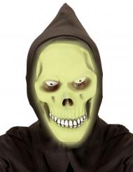 Maschera integrale da morte fosforescente adulto