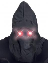 Maschera integrale con cappuccio occhi luminosi adulto