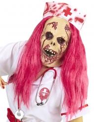 Maschera integrale infermiera zombie