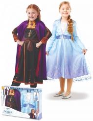 Cofanetto regalo costume Elsa e Anna Frozen 2™ bambina