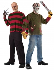 Costume di coppia Freddy vs Jason adulti