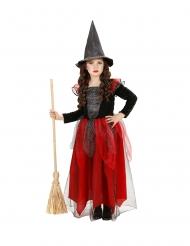 Costume da strega con pailettes e tutu bambina