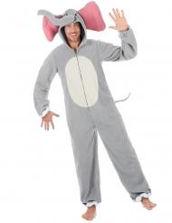 Costume da elefante grigio per uomo