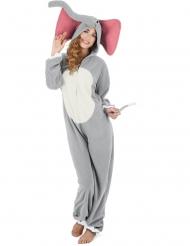 Costume da elefante grigio per donna