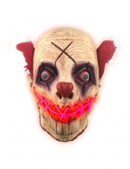 Maschera lattice luminoso clown adulto