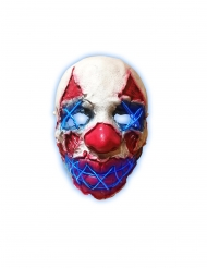 Maschera lattice luminoso clown della notte adulto