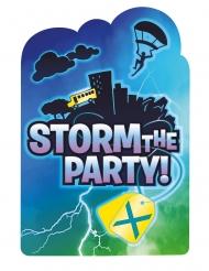 8 Inviti e buste con stickers battle royal