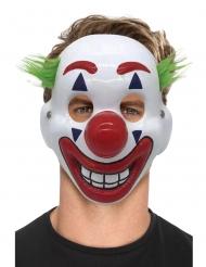 Maschera clown pazzo adulto