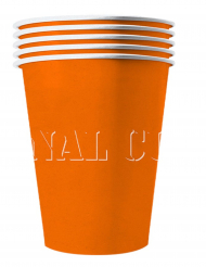 20 Bicchieri americani in cartone riciclabile arancioni 53cl