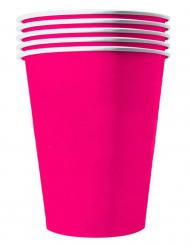 20 Bicchieri americani in cartone riciclabile fucsia 53cl