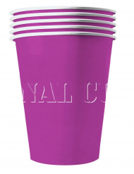 20 Bicchieri di cartone riciclabile viola